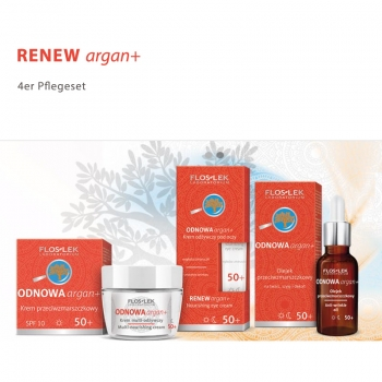Floslek RENEW argan+ 4er Set